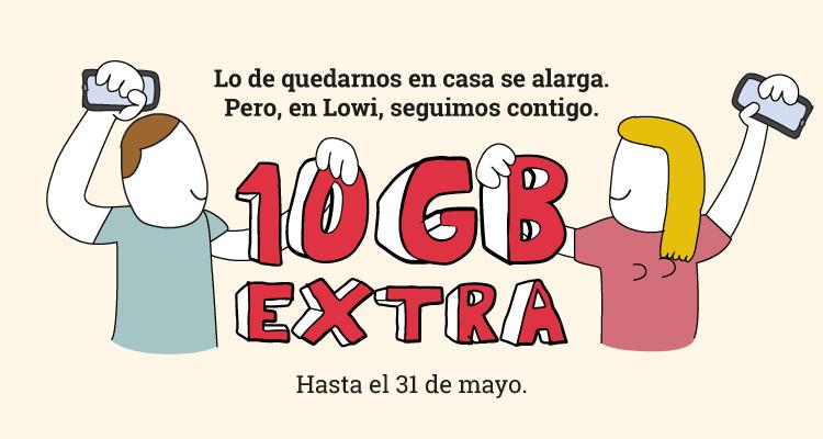 Regalo de 10GB extra ¡Nos seguimos quedando en casa contigo!