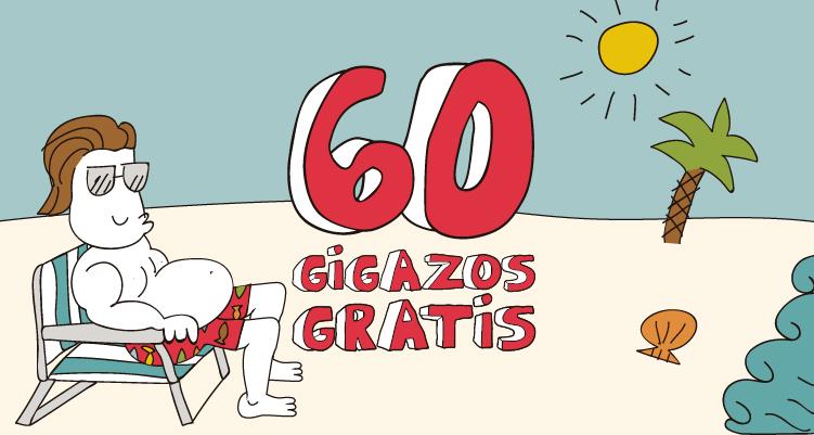 Vuelve a disfrutar de los 60 GIGAZOS gratis de Lowi