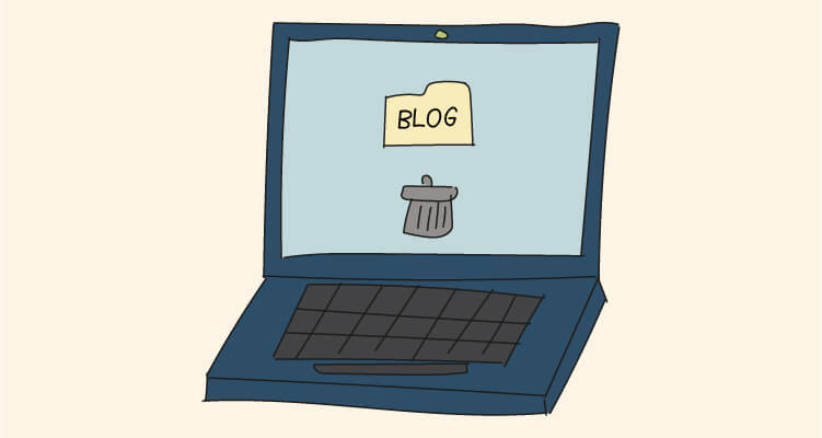 ¿Cómo eliminar un blog? Pasa página y no dejes huella en Internet