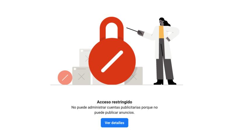 Cuenta de Facebook bloqueada