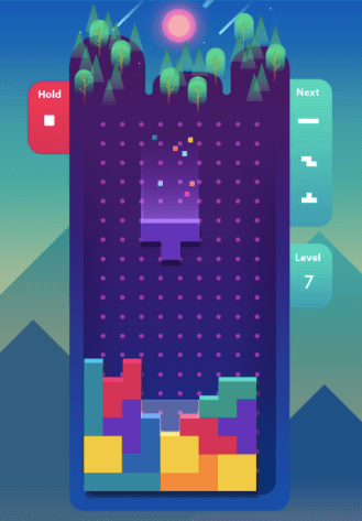 Juego Tetris clásico para móvil