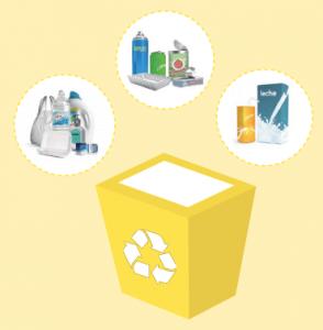 Reciclar contenedor amarillo