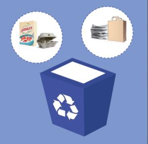 Reciclar contenedor azul