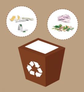 Reciclar contenedor marrón