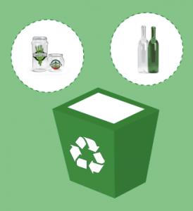 Reciclar contenedor verde