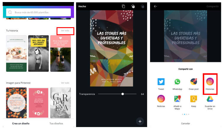 app stories originales
