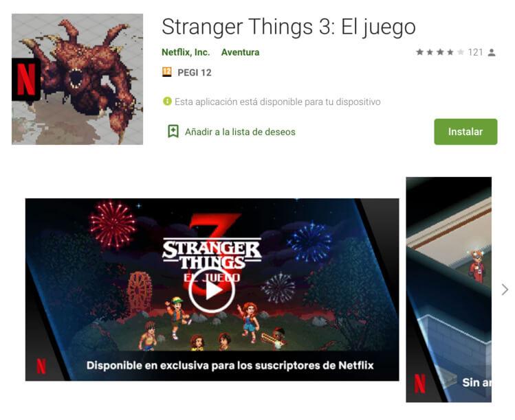 Captura de pantalla del juego móvil Stranger Things 3