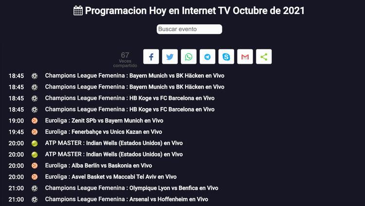 Captura de pantalla de Pirlo Tv